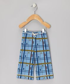 Take a look at this Blue Plaid Parkway Organic Pants - Infant, Toddler & Kids by Kiwi Industries on #zulily today!