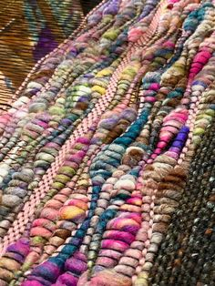Saori hand weaving,sewing clothing from hand wovens and many fiber arts from felting to hand spinning to fiber dyeing Weaving Loom Diy, Weaving Art, Tapestry Weaving, Loom Weaving Projects, Weaving Textiles, Weaving Patterns, Stitch Patterns, Knitting Patterns, Textile Fiber Art