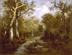 Narcisse Virgilio Diaz De la Pena The Forest in Fontainebleau hand painted oil painting reproduction on canvas by artist Forest, Landscape Paintings, Web Gallery Of Art, Plein Air Paintings, Barbizon School, Theodore Rousseau, Art Movement, Oil Painting For Beginners, Artwork Painting