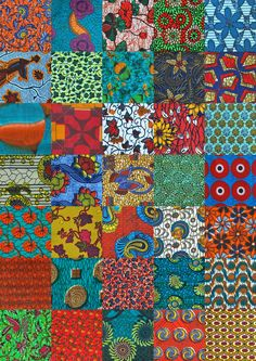 Quilting kit multi colored Kitenge african print