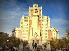 Plaza de España, Monumento a Cervantes, Madrid