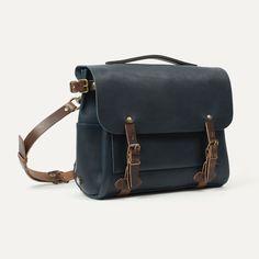 Bleu de Chauffe I Sac Postier Eclair I Postman Bag Eclair | Leather messenger bag