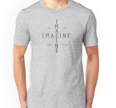 imagine, music, pop, rock, song lyrics, john lennon, inspirational, motivational, cool, popular, unisex, t-shirts, stickers, white, black, rock and roll, peace, love, war, freedom