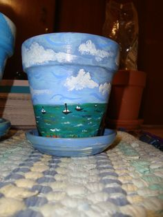 Sailing flower pot.  ~by Cheryl Henderson Harry