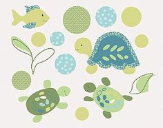 COCALO Baby : Nursery Collections : Turtle Reef Removable Wall Appliqués