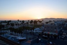 Venice Beach & Santa Monica at sunset from High Rooftop Lounge, Hotel Erwin | www.rachelphipps.com @rachelphipps