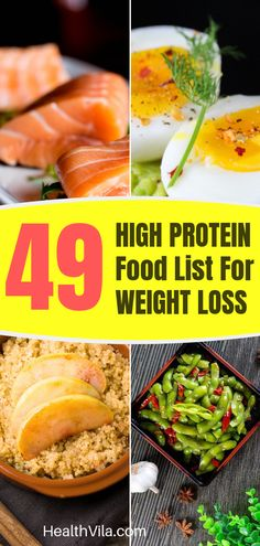 High protein diet for weight loss eating plans food lists: Discover 49 DELICIOUS foods for your weightloss diet plan, and check out Videos with 40+ high protein meal ideas including yummy low carb fat burning breakfast / brunch / lunch / dinner / snack / smoothie recipes (with gluten free option) to give you inspiration. This epic guide also covers medical research on how protein helps men and women to lose weight. You can certainly eat healthy tasty food