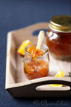 orange marmelade - may be with lemons too, and let's add a hot factor (black peppercorn?)