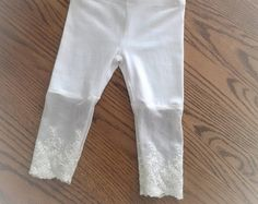 Cod 00 Newborn Sand Stretch Lace Leggings baby lace