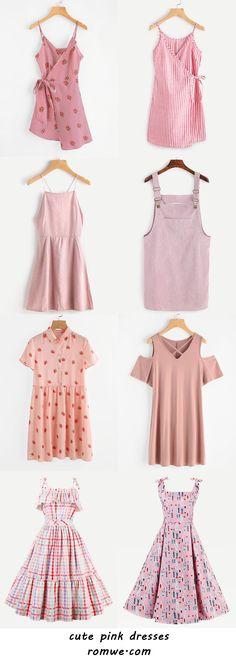 cute pink dresses 2017 - romwe.com