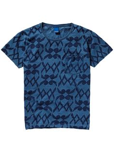 Printed Indigo T-Shirt | T-shirts ss | Men Clothing at Scotch & Soda