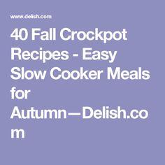 40 Fall Crockpot Recipes - Easy Slow Cooker Meals for Autumn—Delish.com