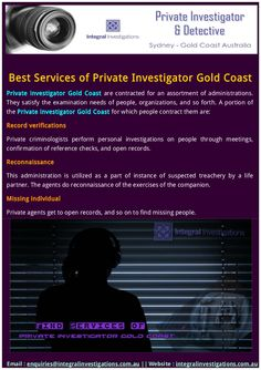 Find top private investigator Gold Coast for Spousal Surveillance, Security Services, Employee Background Checks, Surveillance services.