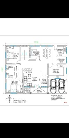 Home Map Design, Home Design Floor Plans, 2bhk House Plan, Model House Plan, Duplex House Plans, House Floor Plans, South Facing House, Indian House Plans, Pallet Furniture Designs