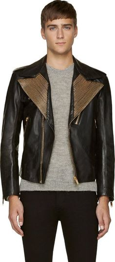 Lust Leather! Jacket Mens Fashion Trends Alexander McQueen Fall 2014