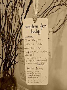 Set of 8 Baby Shower Wishing Tree Tags by FreeSpiritCrafting