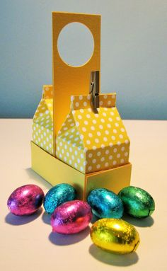 Mini Milk Carton/s Plus Holder (Stampin Up): Do Scream eggs for office staff??