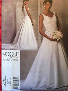 Items Similar To Vogue Bridal Original Pattern Close Fitting Floor Length Gown On Etsy