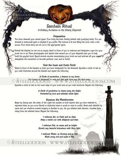 Samhain Ritual Magic Spell Book of Shadows by steelgoddess Samhain Ritual, Ritual Magic, Magic Spells, Beauty Spells, Moon Spells, Healing Spells, Magic Spell Book, Samhain Halloween, Witch Spell