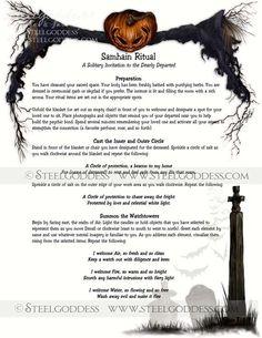 Samhain Ritual Magic Spell Book of Shadows by steelgoddess Samhain Ritual, Wiccan Sabbats, Wicca Witchcraft, Paganism, Ritual Magic, Magic Spells, Beauty Spells, Healing Spells, Magic Spell Book