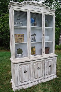 would love to DIY a cabinet/hutch like this one day!! by reckless glamour