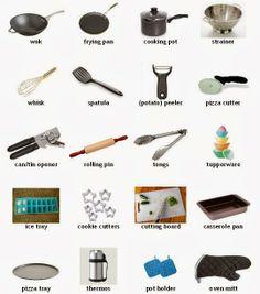Kitchen utensils 4 vocabulary