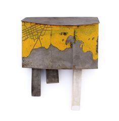 Kat Cole Brooch: Construction, 2014 Steel, Enamel, Concrete 13 x 10 x 4 cm