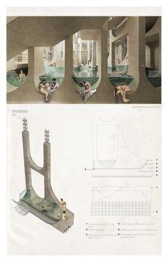 Presidents Medals: Upside Down Architecture Concept Diagram, Architecture Panel, Architecture Graphics, Interior Architecture, Architecture Diagrams, Architecture Portfolio Layout, Presentation Layout, Architectural Presentation, Presentation Boards