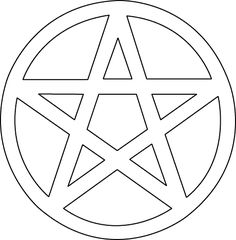 Pentagram applique pattern