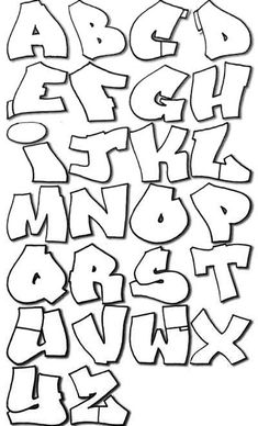 Complete Graffiti Alphabet Style for Lessons