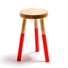 Holy Stool Medium Neon Red