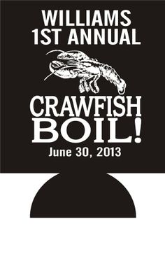 50 Custom Personalized Crawfish Boil Koozies ~~~ Great Party Favors ~~~