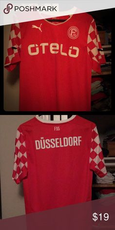 Fortuna Dusseldorf German Bundesliga Soccer Jersey Owned 1 Year. Worn 2-3 times. Like new, perfect condition. No smokers/cats. Puma Shirts Tees - Short Sleeve