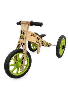 13849434c Triciclo 2 em 1 Vira Bicicleta de Equilíbrio Colorida Verde e Preto