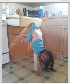 Fail: either she fell off and is stuck or she was trying to twerking : lol : funny : for laughs : kids :