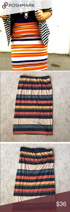 ❗️British Striped Colorful Midi Skirt MSRP $78! ❗️British So Fabulous! Colorful Striped Modi Skirt. Size 20 or 1X. Great condition! Make an offer! Selling to first reasonable offer i receive! Im giving 20% off bundles. Feel free to make an offer! Fast shipping with my Fall Clearout Sale ;-) Nordstrom Skirts Midi