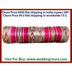 Shadi nazdeek ho to tension ho jati hai so no need to tension? Every bridal accessories is available jaise ki bridal lehenga chaiye, phir matching chura chaiye then always remember www.weddingchura.com .