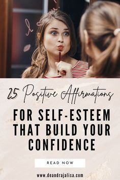 Want to boost your self-confidence? Here's a list of 25 positive affirmations for self-esteem that builds confidence. Get ready for success and happiness that will go in your way. #positiveaffirmations #dailyaffirmations #mantras #morningaffirmations #selfconfidence Building Self Confidence, Building Self Esteem, Self Confidence Quotes, Self Love Affirmations, Morning Affirmations, Know Your Self Worth, Finding Happiness, Affirmation Quotes, Motivational Words