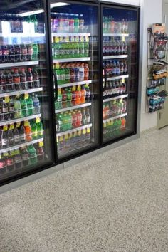 Easy to clean seamless floors! Imagine a gas station or convenience store!