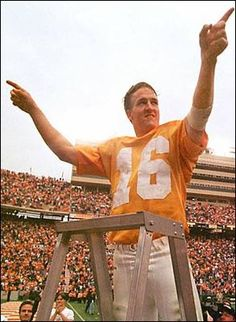 Regardless of the uniform, a Tennessee Vol. Peyton Manning leading the band in Rocky Top!!!!