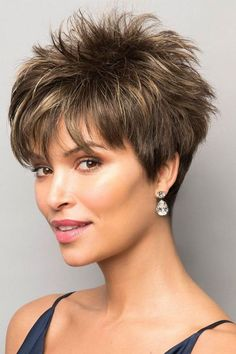 Today we have the most stylish 86 Cute Short Pixie Haircuts. We claim that you have never seen such elegant and eye-catching short hairstyles before. Pixie haircut, of course, offers a lot of options for the hair of the ladies'… Continue Reading → Short Hair Wigs, Short Pixie Haircuts, Cute Hairstyles For Short Hair, Wig Hairstyles, Curly Hair Styles, Short Choppy Hair, Layered Hairstyles, Short Length Hairstyles, Short Textured Haircuts