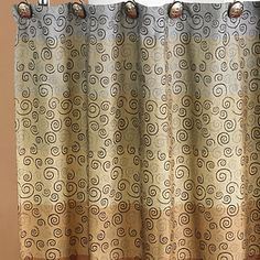 miramar fabric shower curtain, multicolor | bath accessories