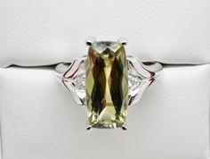 4.43 Ct. Natural Zultanite & .04 Ct. Diamond Ring 14k Cert Of