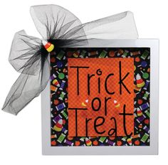Crafts Direct Project Idea: Trick or Treat 8x8 Shadow Box