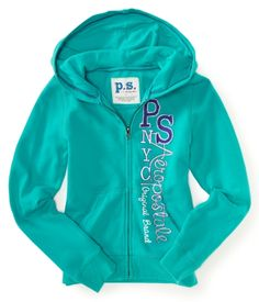 Size 12-Color Dreamy-Kids' Vertical PS Aeropostale Zip-Front Hoodie