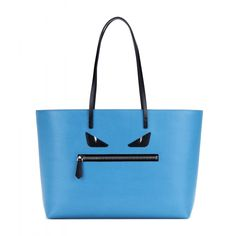 Fendi+-+Medium+Roll+Monster+Face+embellished+leather+shopper+-+Fendi's+textured+leather+shopper+comes+with+a+cheeky+'Monster+Face'+embellishment+for+a+fun+twist+on+the+electric+blue+design.+Crafted+in+Italy,+this+roomy+design+is+ideal+for+everyday+essentials+and+weekend+trips+away.+seen+@+www.mytheresa.com