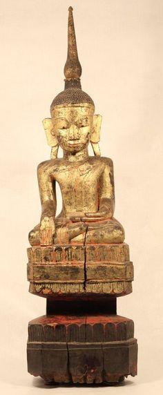 18th c Shan Burmese Temple Buddha