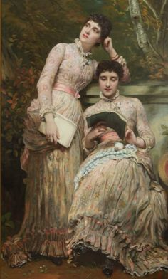 James Sant  -  Ida (1863-1941) And Ethel (1863-1888) Twindaughters Of J. Searlightes. 1884