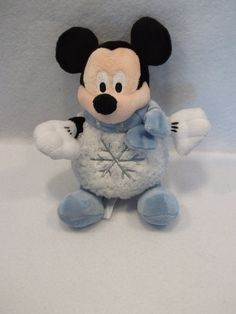 """Disney Winter Snowball Mickey Mouse 9"""" plush doll toy"""