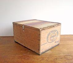 Rustic Old Wooden Storage Box Stool Australia